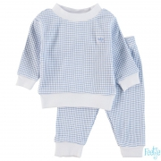 Feetje Basis Wafel Pyjama Blue