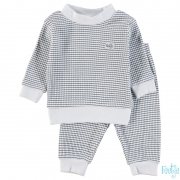 Feetje Basis Wafel Pyjama Navy