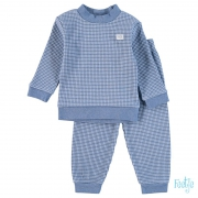 Feetje Basis Wafel Pyjama Blue Melange