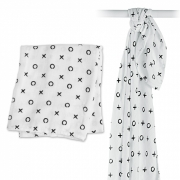 Swaddle Bamboo 120 * 120 cm Kisses & Hugs