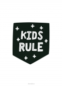 Poster Zwart Kids Rule