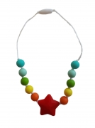 Bijtketting Ster Rood