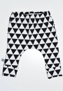 SK Baggy Broekje Black and White Triangle