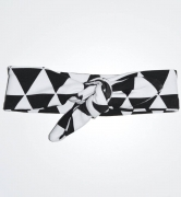 SK Haarband Black And White Triangle