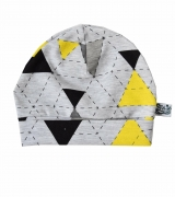 SK Babymutsje Yellow & Grey Triangle