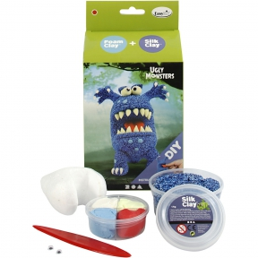 Silk Clay Funny Friends Monster Blauw