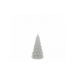 Rustik Lys Kerstboom Kaars Cool Grey Klein