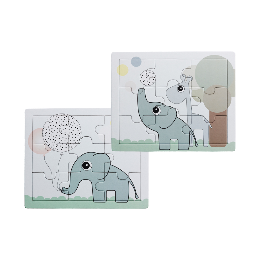twee ons geluk leuke puzzel set van 2 stuks met de olifant van done by deer binnen spelen. Black Bedroom Furniture Sets. Home Design Ideas